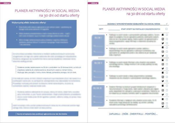 planer aktywności w social media